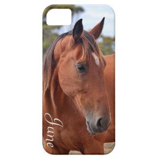 Monograma del caballo funda para iPhone SE/5/5s