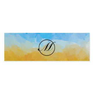 Monograma del campo tarjetas de visita mini