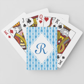 Monograma del diamante baraja de cartas