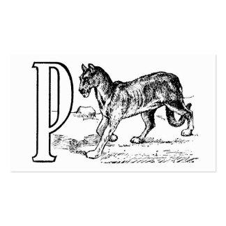Monograma del ejemplo del vintage de la letra P Tarjetas De Visita
