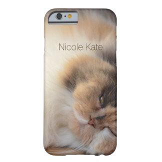 Monograma del gato el dormir funda barely there iPhone 6