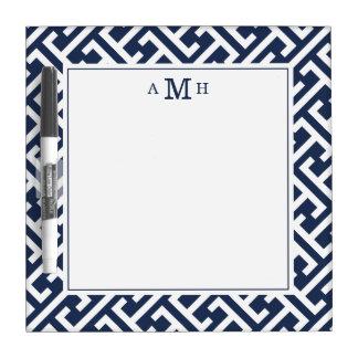 Monograma del modelo dominante del Griego moderno Pizarra Blanca