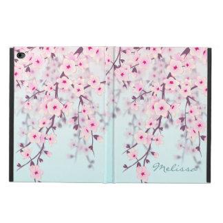 Monograma del pastel de las flores de cerezo funda para iPad air 2