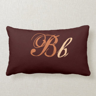Monograma doble de B en Brown y beige Cojín