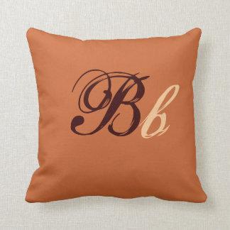 Monograma doble de B en Brown y el beige I Cojín