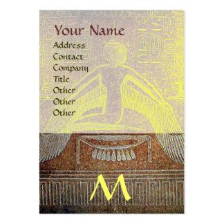 MONOGRAMA EGIPCIO de ISIS amarillo blanco marrón Tarjetas De Visita