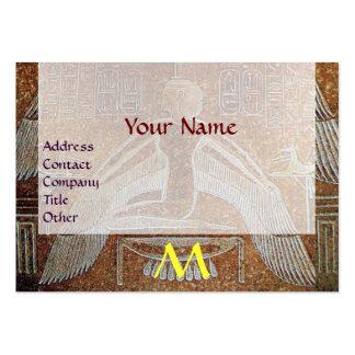 MONOGRAMA EGIPCIO de ISIS, amarillo blanco marrón Tarjetas De Visita