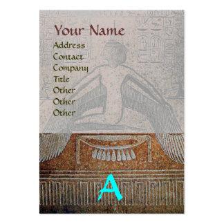 MONOGRAMA EGIPCIO de ISIS, azul gris blanco marrón Tarjetas De Visita