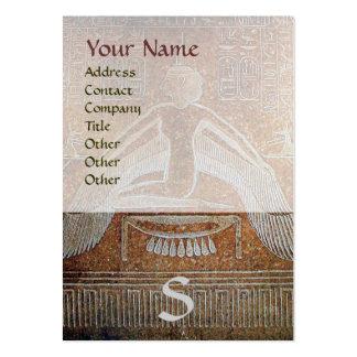 MONOGRAMA EGIPCIO de ISIS blanco marrón brillante Plantilla De Tarjeta De Visita