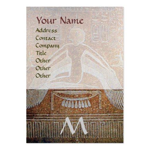 MONOGRAMA EGIPCIO de ISIS, blanco marrón Tarjeta De Visita