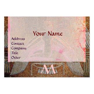 MONOGRAMA EGIPCIO de ISIS, blanco marrón Tarjetas De Visita Grandes