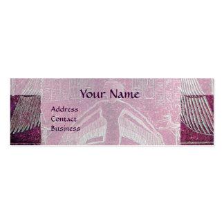 MONOGRAMA EGIPCIO de ISIS, blanco púrpura rosado Tarjetas De Visita Mini