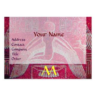 MONOGRAMA EGIPCIO de ISIS, blanco púrpura rosado Tarjeta De Visita