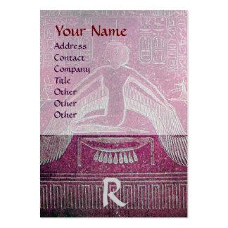 MONOGRAMA EGIPCIO de ISIS, blanco púrpura rosado Tarjeta De Negocio