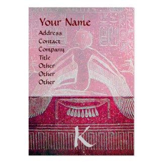 MONOGRAMA EGIPCIO de ISIS, blanco púrpura rosado Tarjetas De Visita