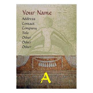 MONOGRAMA EGIPCIO de ISIS, gris amarillo blanco Tarjetas De Visita Grandes