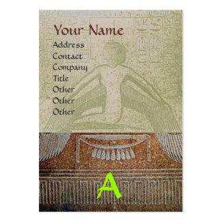 MONOGRAMA EGIPCIO de ISIS, gris verde blanco Plantillas De Tarjetas De Visita
