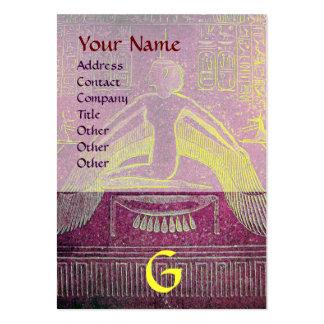 MONOGRAMA EGIPCIO de ISIS, marrón blanco púrpura r Tarjeta Personal