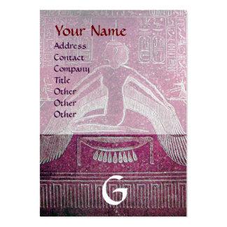 MONOGRAMA EGIPCIO de ISIS, marrón blanco púrpura r Tarjetas De Negocios
