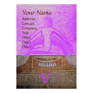 MONOGRAMA EGIPCIO de ISIS marrón púrpura rosado b Tarjeta De Negocio