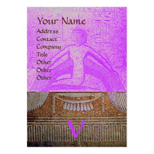 MONOGRAMA EGIPCIO de ISIS, marrón púrpura rosado b Tarjeta De Negocio
