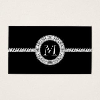 Monograma elegante de la plantilla de la tarjeta
