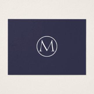 Monograma elegante del añil tarjeta de visita