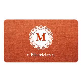 Monograma elegante del cordón del electricista tarjetas de visita