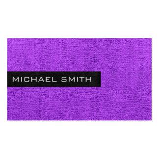 Monograma elegante llano violeta tarjetas de visita