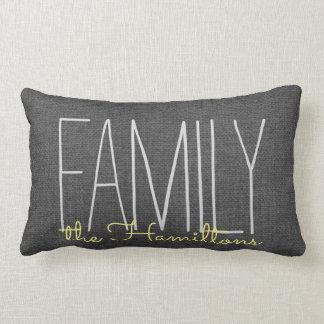 Monograma elegante rústico de la familia EN Cojín Lumbar
