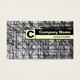 Monograma etiquetado borde - andamio tarjeta de negocios