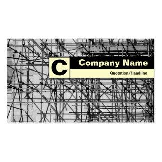 Monograma etiquetado borde - andamio tarjetas de visita