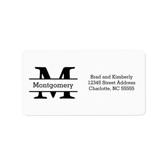 Monograma - etiquetas de dirección