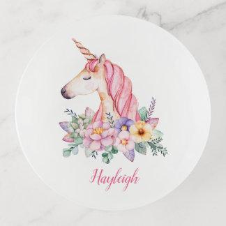 Monograma floral de la acuarela rosada del