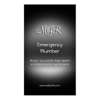 Monograma, fontanero de la emergencia, metal-mirad plantillas de tarjetas de visita