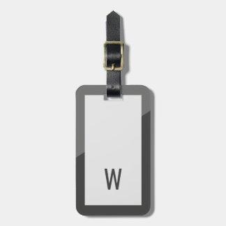 Monograma geométrico gris fresco elegante etiqueta para maletas