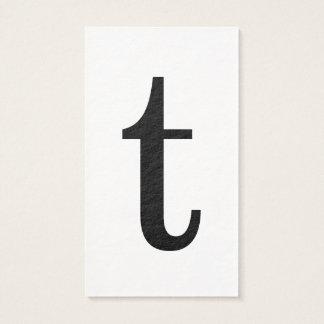 Monograma inicial moderno con las tarjetas negras