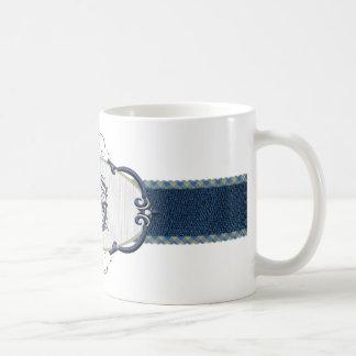 Monograma-Letra azul F de Rothenburg Taza Clásica