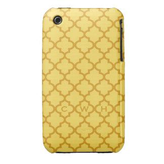 Monograma marroquí del diseño 3 de la teja del funda bareyly there para iPhone 3 de Case-Mate