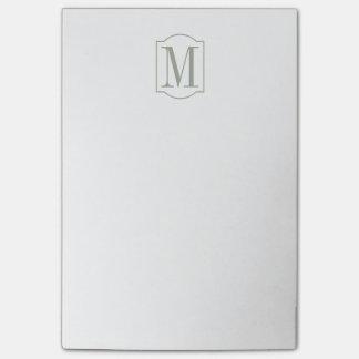 Monograma minimalista elegante sabio del desierto notas post-it®