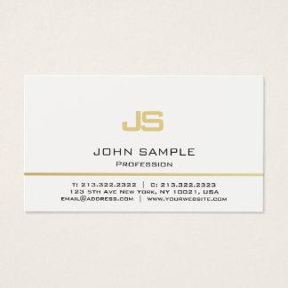 Monograma moderno profesional minimalista del oro tarjeta de visita