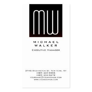 Monograma moderno simple profesional blanco tarjetas de visita