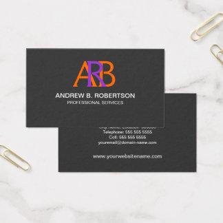 Monograma moderno y elegante tarjeta de negocios