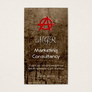 Monograma, muestra roja de la anarquía del tarjeta de negocios