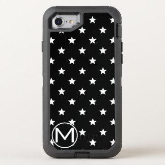 Monograma negro de la estrella funda OtterBox defender para iPhone 7