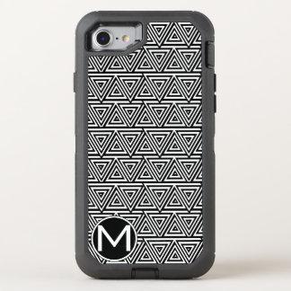 Monograma negro de Tribangle Funda OtterBox Defender Para iPhone 8/7