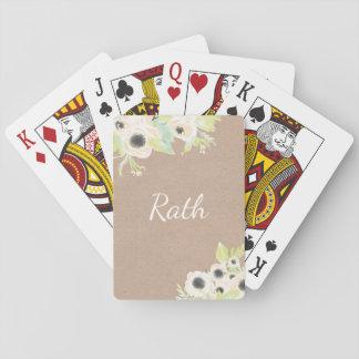Monograma personalizado casando naipes del póker