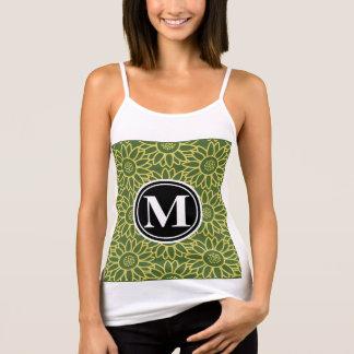 Monograma personalizado girasol de la copa camiseta de tirantes