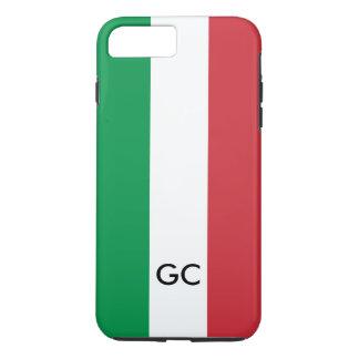 Monograma personalizado orgullo italiano de Italia Funda Para iPhone 8 Plus/7 Plus