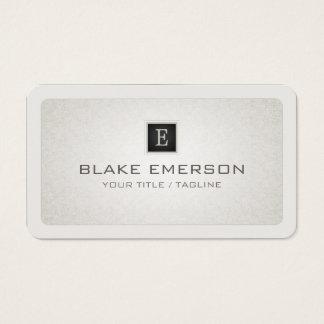 Monograma profesional de encargo de las esquinas tarjeta de visita